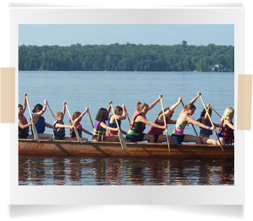 war canoe paddling competitive girls camp ontario