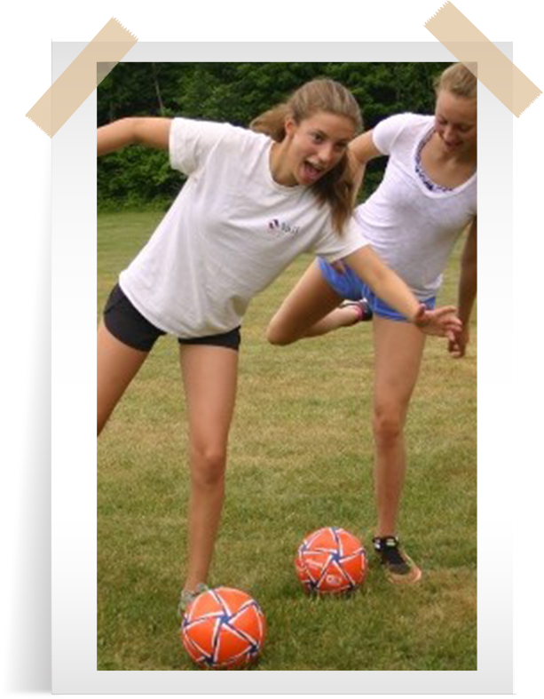 girls soccer fun landsports camp akomak ontario
