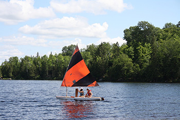 Summer Camp on Lake in Canada